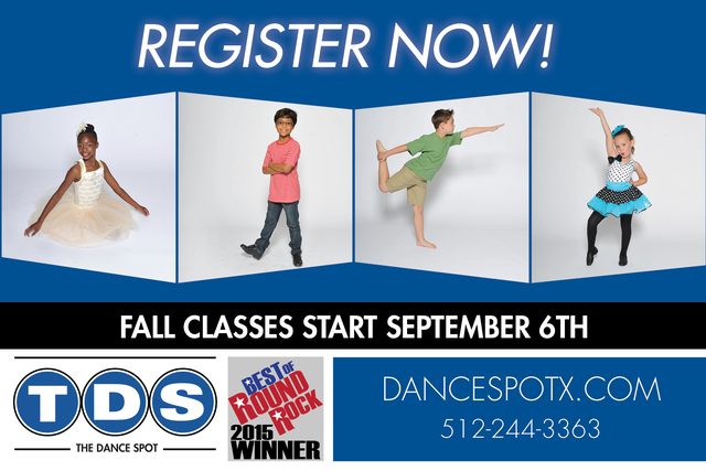 Register Now! – Fall Classes Start September 6th
